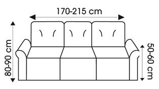 3 sitzer husse stretchhusse gr 3 braun grau sofahusse sofabezug bezug neu ebay. Black Bedroom Furniture Sets. Home Design Ideas