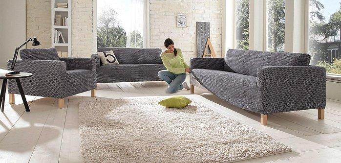 3 sitzer crash stretchhusse gr 3 grau husse sofahusse for Suche gebrauchte couch