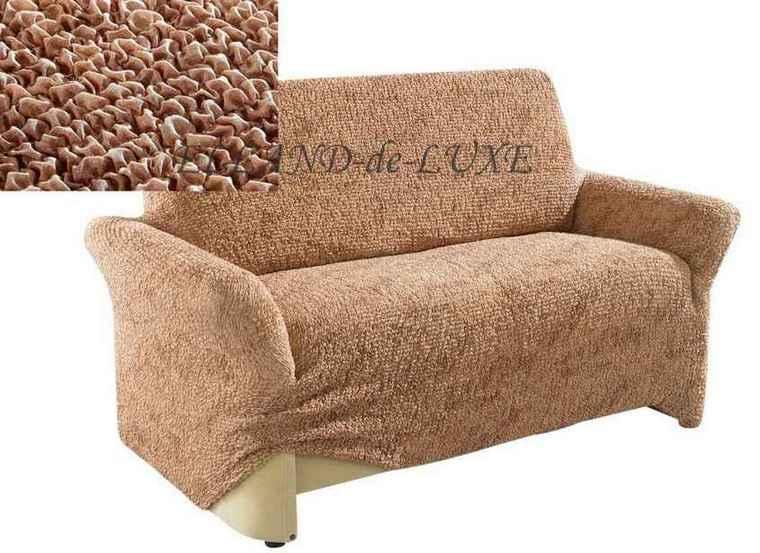 2 sitzer sofahusse stretchhusse husse braun gr 2 sofabezug - Sofabezug braun ...