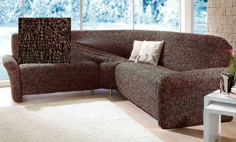 ecksofa sofahusse husse braun beige stretchhusse stretch sofabezug bezug neu ebay. Black Bedroom Furniture Sets. Home Design Ideas
