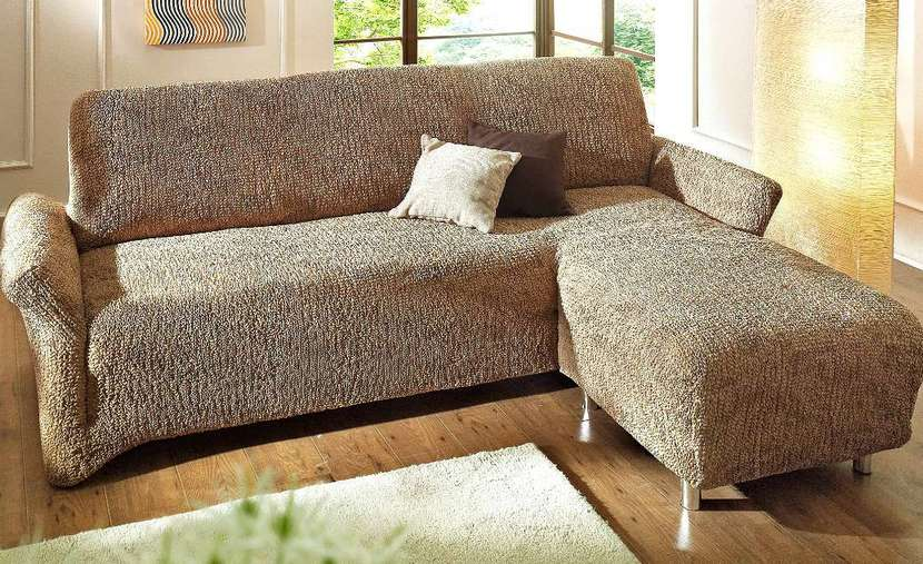 3 2 sofahusse ottomane husse rechts ecksofa braun neu ebay. Black Bedroom Furniture Sets. Home Design Ideas