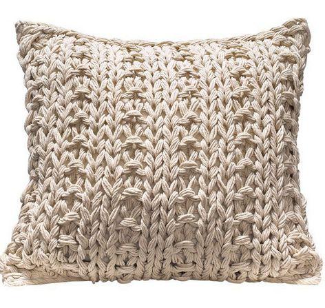 1 st grob strick kissenbezug von magma 40 x 40 beige kissenh lle bezug neu ebay. Black Bedroom Furniture Sets. Home Design Ideas