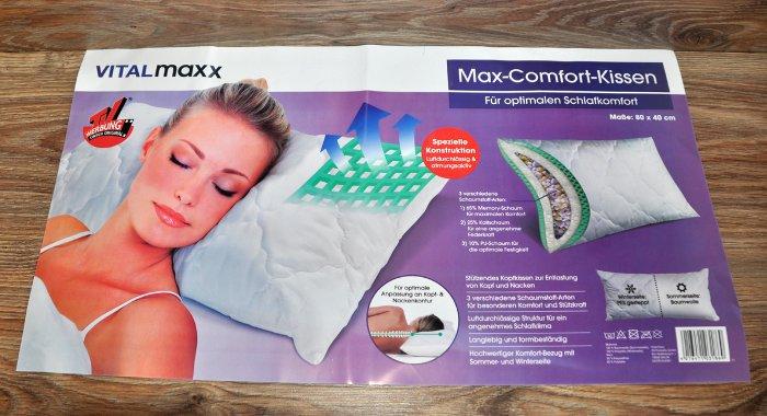 kissen max comfort 40x80 memory schaum kaltschaum kopfkissen by vitalmaxx neu 4016471031869 ebay. Black Bedroom Furniture Sets. Home Design Ideas