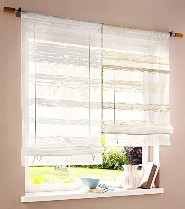 1 st raffrollo 80 x 135 wei scherli rollo halbtransparent tunnelzug neu ebay. Black Bedroom Furniture Sets. Home Design Ideas