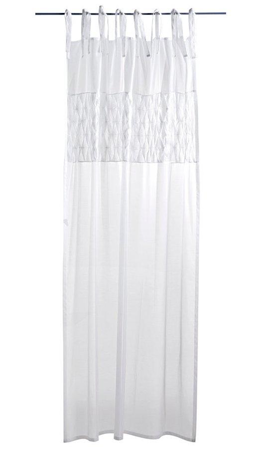 1 st dekoschal 140 x 175 wei plissee falten vorhang gardine kr uselband neu ebay. Black Bedroom Furniture Sets. Home Design Ideas