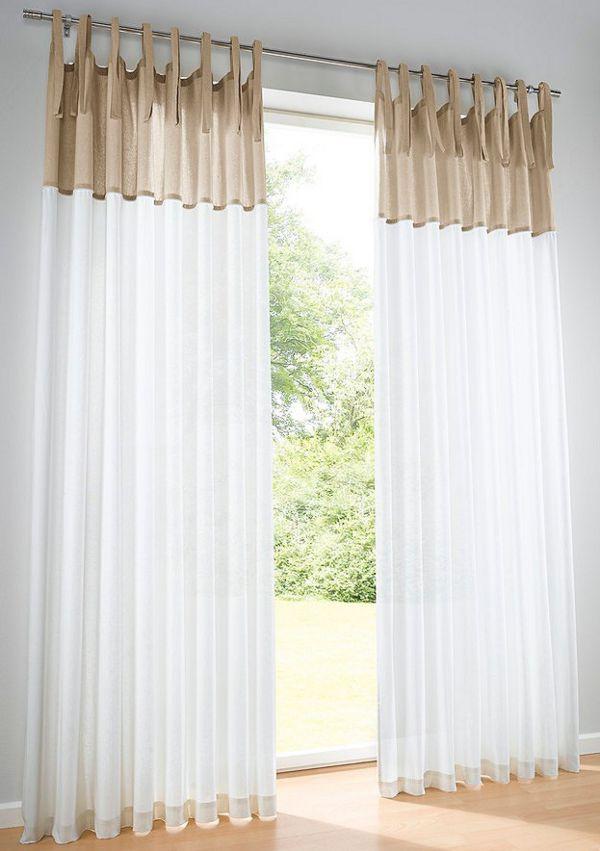 gardine 145 175 225 245 blickdicht von heine store vorhang bindeb nder neu ebay. Black Bedroom Furniture Sets. Home Design Ideas