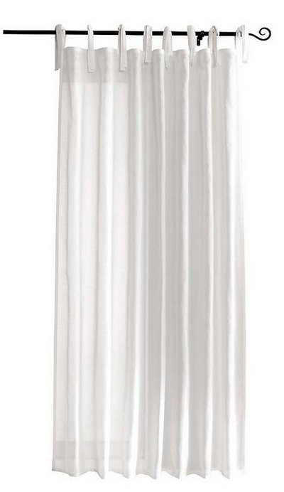 1 st gardine vorhang 140 x 215 240 wei bindeb nder schal halbtransparent neu ebay. Black Bedroom Furniture Sets. Home Design Ideas