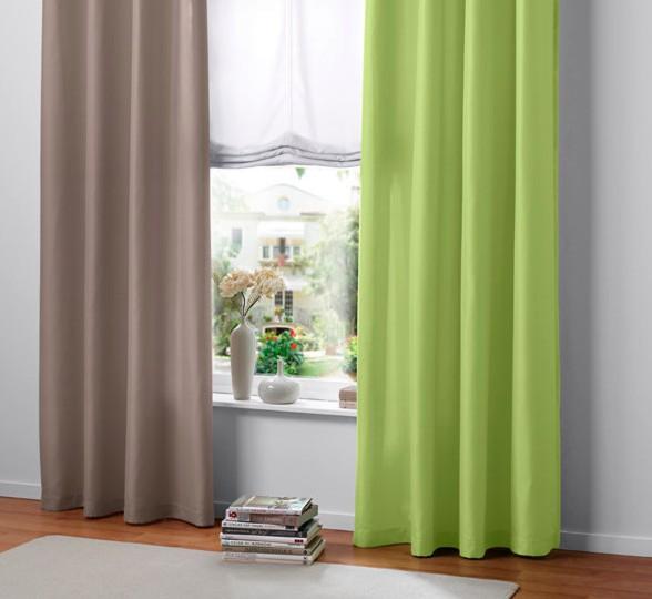 2 st gardine 140 x 245 taupe blickdicht store vorhang by. Black Bedroom Furniture Sets. Home Design Ideas