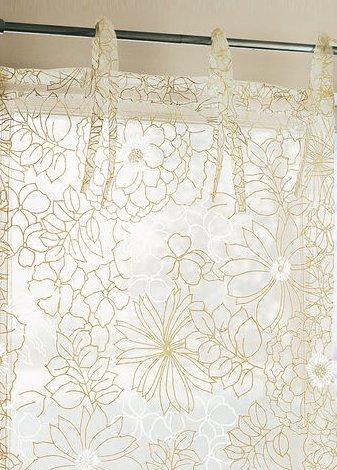 1 st raffrollo rollo 100 x 140 creme beige blumen transparent bindeb nder neu ebay. Black Bedroom Furniture Sets. Home Design Ideas