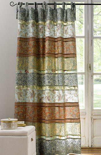 1 st gardine vorhang 140 x 245 bunt patchwork optik blickdicht schal neu ebay. Black Bedroom Furniture Sets. Home Design Ideas
