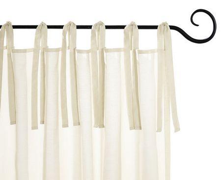 2 st gardine 140 x 225 creme wei vorhang deko store schal bindeb nder neu ebay. Black Bedroom Furniture Sets. Home Design Ideas
