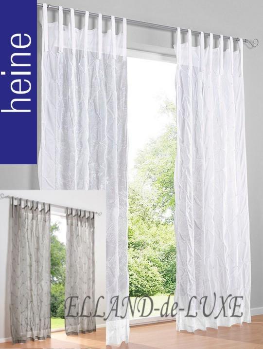 2 st gardine 140 x 145 weiss halbtransparent store baumwolle bindeb ndern neu ebay. Black Bedroom Furniture Sets. Home Design Ideas