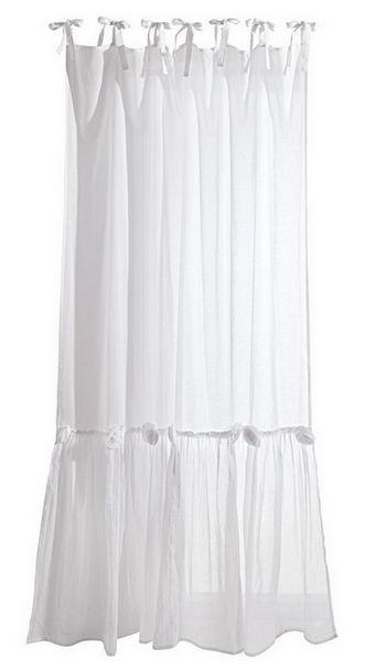 2 st gardine store 140 x 245 wei volant rosen schal halbtransparent vorhang neu ebay. Black Bedroom Furniture Sets. Home Design Ideas