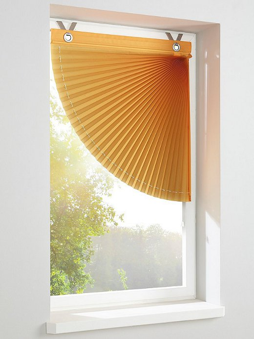 raffrollo wei gr n mauve lila orange heine magneten kurz plissee rollo neu ebay. Black Bedroom Furniture Sets. Home Design Ideas