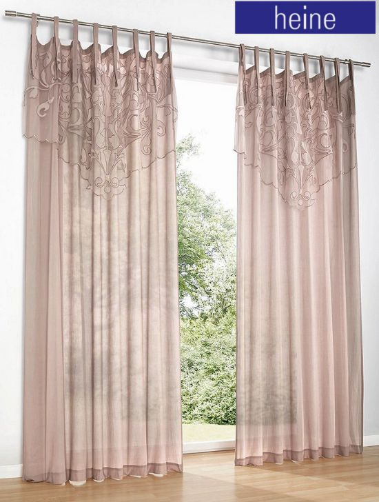 1 st gardine 140 x 225 mauve von heine halbtransparent store bindeb nder neu ebay. Black Bedroom Furniture Sets. Home Design Ideas