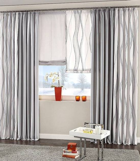 1 st vorhang 140 x 225 grau blickdicht deko store gardine kr uselband neu ebay. Black Bedroom Furniture Sets. Home Design Ideas