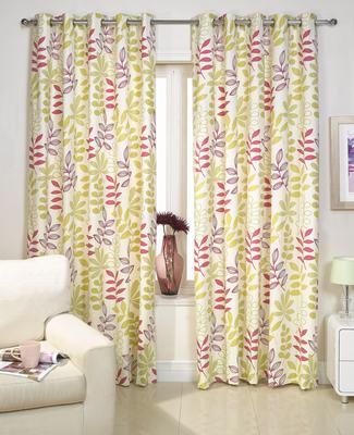 2 st vorhang gardine store 137 x 168 creme gr n pink - Pinke gardinen ...