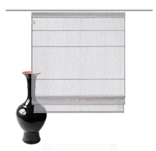 1 st raffrollo rollo 80 x 150 grau flauschband leinen optik transparent neu ebay. Black Bedroom Furniture Sets. Home Design Ideas