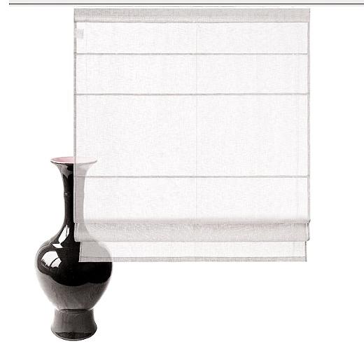 raffrollo 60 100 x 150 creme rollo leinen optik landhaus flauschband neu ebay. Black Bedroom Furniture Sets. Home Design Ideas