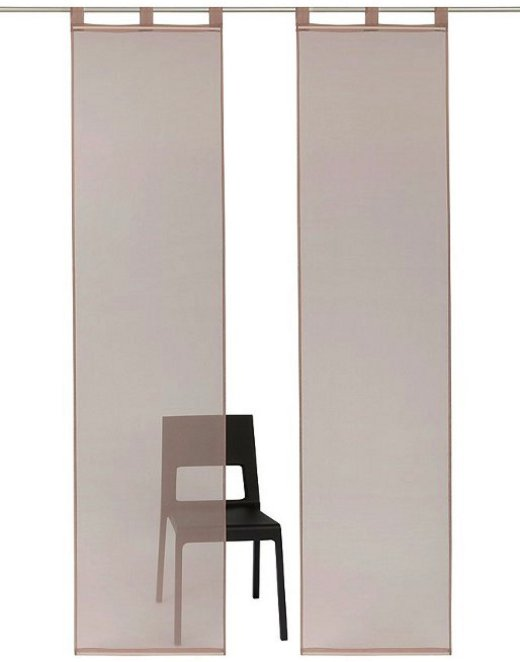 schiebegardine schiebevorhang fl chenvorhang voile mit. Black Bedroom Furniture Sets. Home Design Ideas