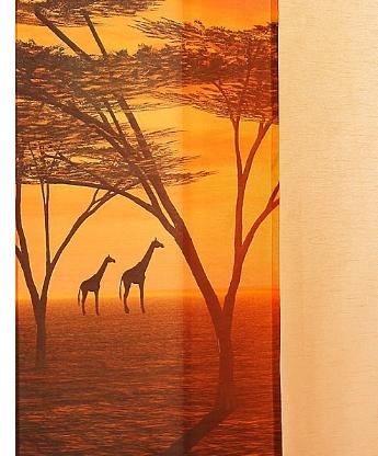 1 st schiebegardine schiebevorhang gelb terra 57 x 245 - Gardinen afrika look ...