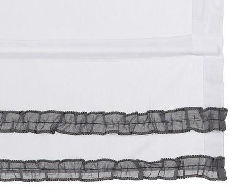 raffrollo 80 120 x 140 wei grau transparent vorhang rollo. Black Bedroom Furniture Sets. Home Design Ideas