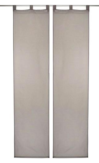 2 st schiebegardine schiebevorhang 57 x 245 grau uni transparent schlaufen neu. Black Bedroom Furniture Sets. Home Design Ideas