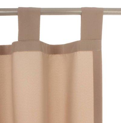 2 st vorhang 140 x 245 sand beige blickdicht deko schal gardine schlaufen neu ebay. Black Bedroom Furniture Sets. Home Design Ideas