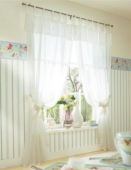 2 st gardine 145x245 creme halbtransparent store schal vorhang bindeb nder neu ebay. Black Bedroom Furniture Sets. Home Design Ideas