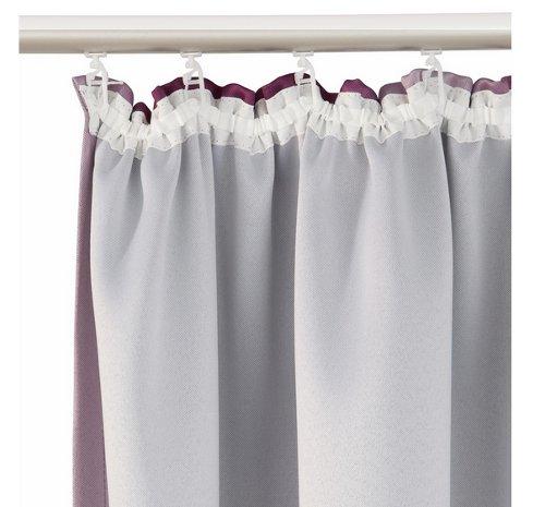 2 st vorhang 140 x 245 lila flieder farbverlauf. Black Bedroom Furniture Sets. Home Design Ideas