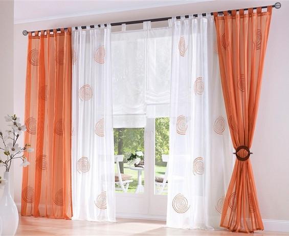 2 ST Curtain Scarf Curtain Store 140 x 245 Cream Terra LOOPS NEW