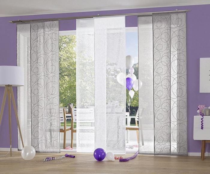 gardinen deko gardinen leinen grau gardinen dekoration. Black Bedroom Furniture Sets. Home Design Ideas