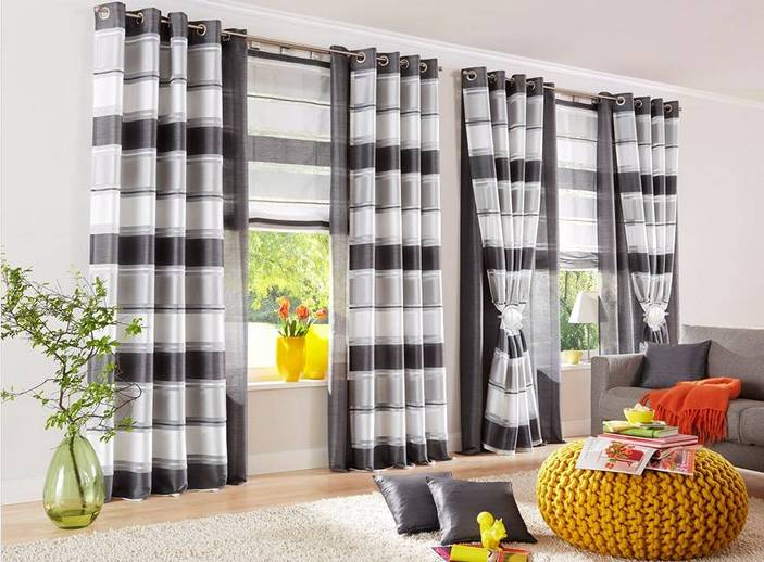 1 st raffrollo rollo 120 x 160 anthrazit wei voile seidenoptik schlaufen neu ebay. Black Bedroom Furniture Sets. Home Design Ideas