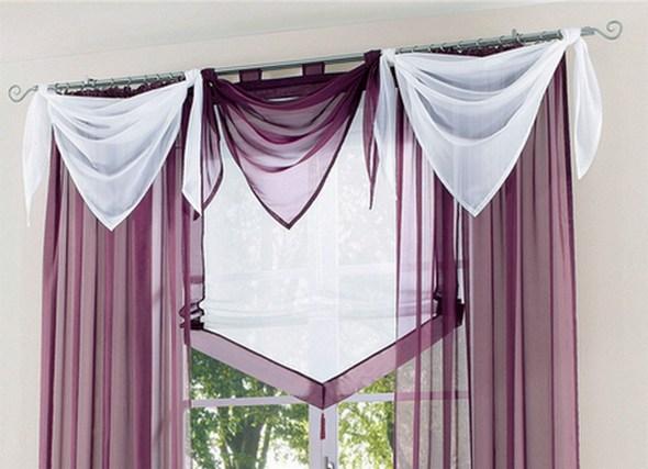 2 st segel dreieck gardine 100 x 200 beere uni voile transparent deko neu ebay. Black Bedroom Furniture Sets. Home Design Ideas