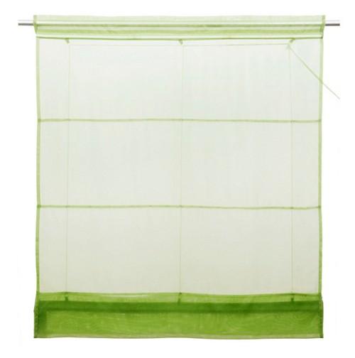 1 st faltrollo raffrollo rollo voile 100 x 155 gr n transparent tunnelzug neu. Black Bedroom Furniture Sets. Home Design Ideas