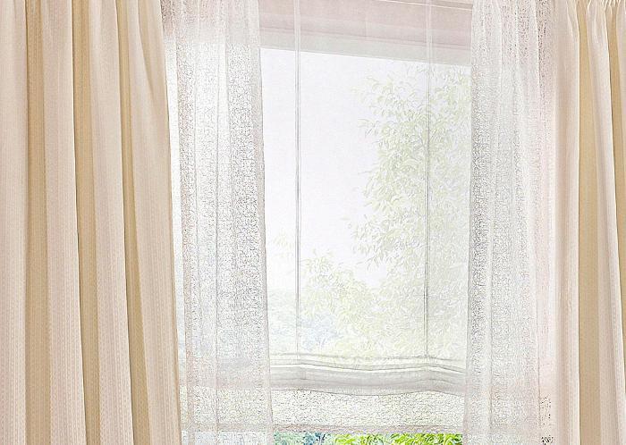 1 st raffrollo 45 60 x 170 ecru bestickt blende rollo. Black Bedroom Furniture Sets. Home Design Ideas