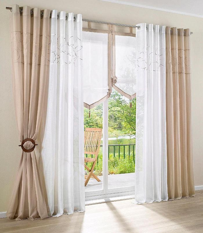 Vorhang Wohnzimmer Grau : 145×145 Wei u00c3 u00c2 Grau ...