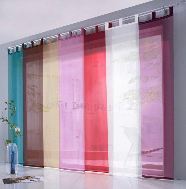 4x schiebegardine 57 x 225 flieder schiebevorhang. Black Bedroom Furniture Sets. Home Design Ideas