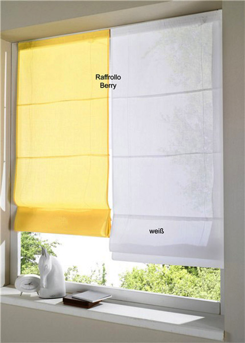 2 st faltrollo rollo 60 120 x 155 gelb uni raffrollo. Black Bedroom Furniture Sets. Home Design Ideas