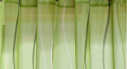 2 st gardine 140 x 145 gr n kr uselband schal transparent