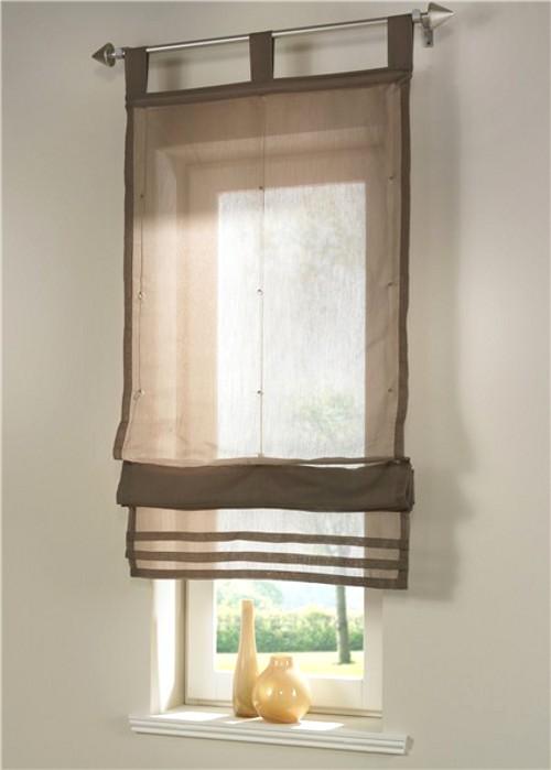 1 st raffrollo 60 x 155 karamell braun rollo transparent klettschiene neu. Black Bedroom Furniture Sets. Home Design Ideas