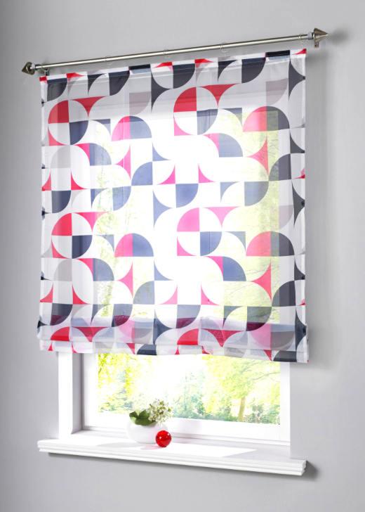 raffrollo 80 x 140 wei schwarz rot druck transparent rollo klettschiene neu ebay. Black Bedroom Furniture Sets. Home Design Ideas