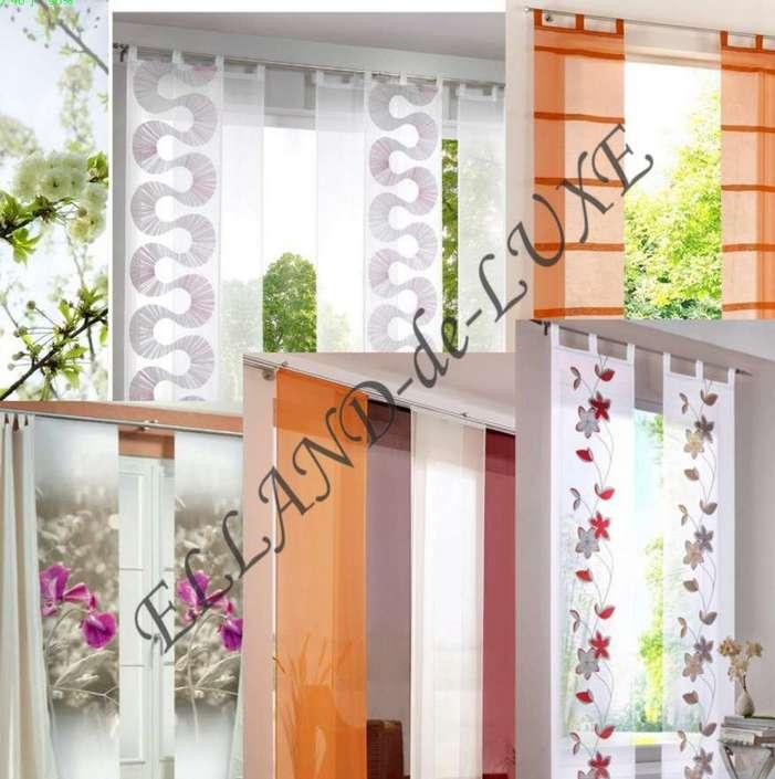 100 st schiebegardinen schiebevorh nge fl chenvorh nge restposten ohne technik ebay. Black Bedroom Furniture Sets. Home Design Ideas