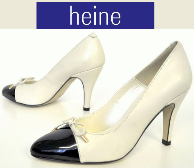 singh s madan von heine pumps high heels schuhe schwarz ecru 38 neu ebay. Black Bedroom Furniture Sets. Home Design Ideas