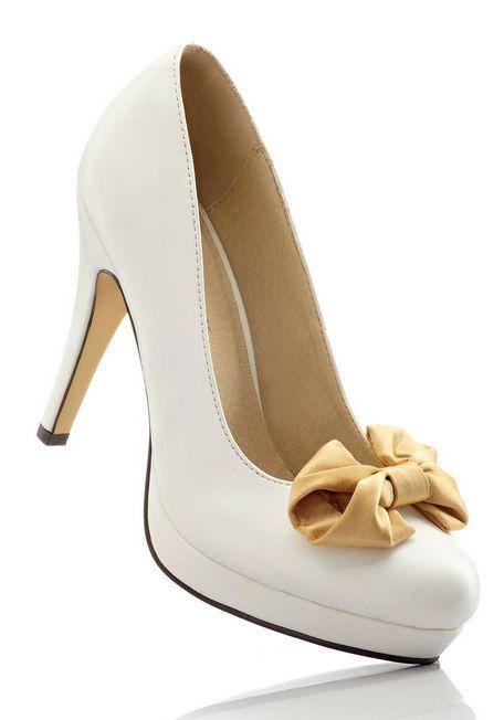plateau pumps von gl ckler 40 wei gold high heels. Black Bedroom Furniture Sets. Home Design Ideas