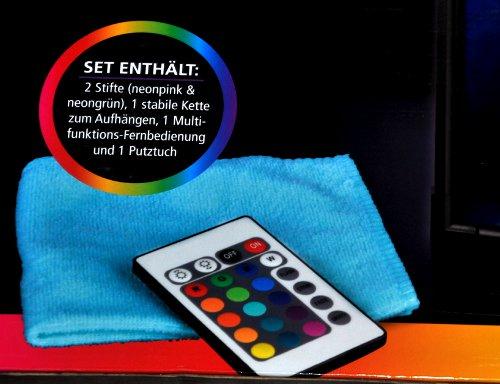 led schreibtafel farbwechsel 2x stifte fernbedienung werbung by easymaxx neu ebay. Black Bedroom Furniture Sets. Home Design Ideas