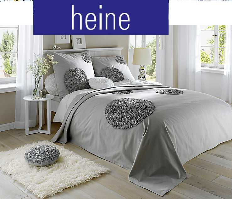 tagesdecke von heine 250 x 280 grau wohndecke berwurf decke stoffrose ebay. Black Bedroom Furniture Sets. Home Design Ideas