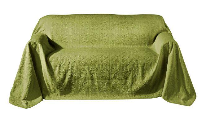 sofa berwurf von heine tagesdecke 250 x 330 gr n gelb. Black Bedroom Furniture Sets. Home Design Ideas