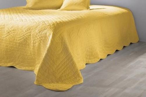 tagesdecke von heine 240 x 210 gelb steppdecke wohndecke. Black Bedroom Furniture Sets. Home Design Ideas