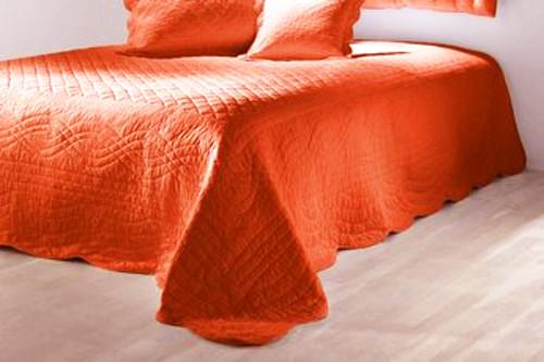 1 st tagesdecke 250 x 280 orange wohndecke decke berwurf. Black Bedroom Furniture Sets. Home Design Ideas